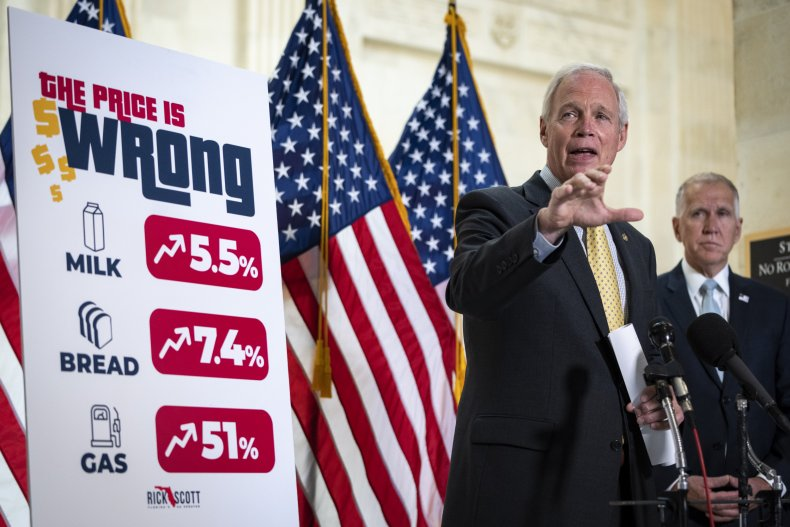 Republican senators show price inflation for consumers