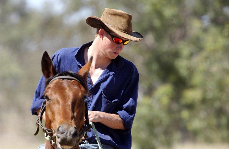Prince Harry as a Cowboy