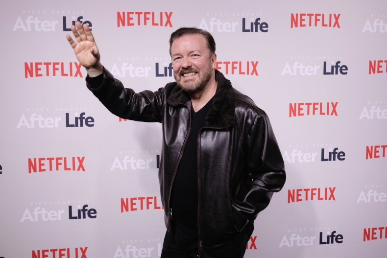 Ricky Gervais at After Life event