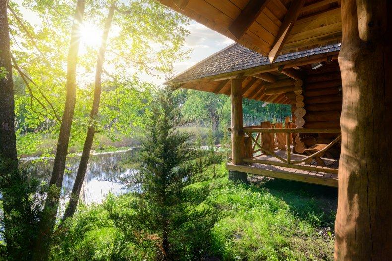 Wood Cabin File Photo
