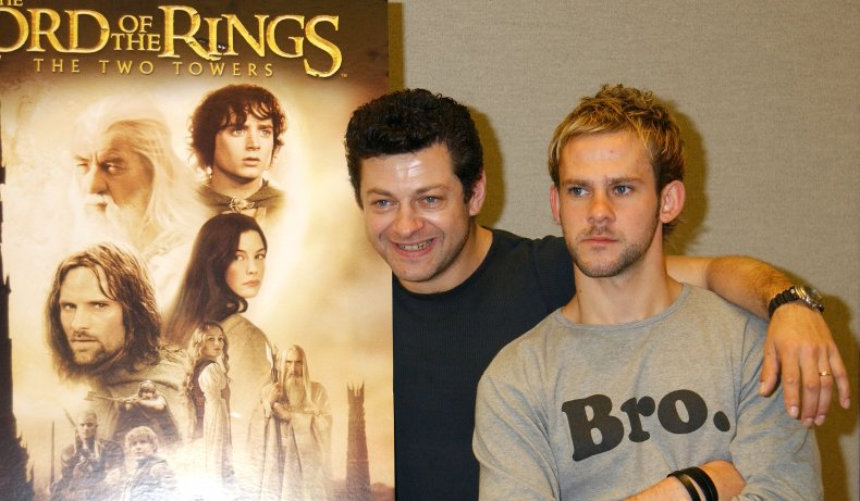 Dominic Monaghan and Andy Serkis