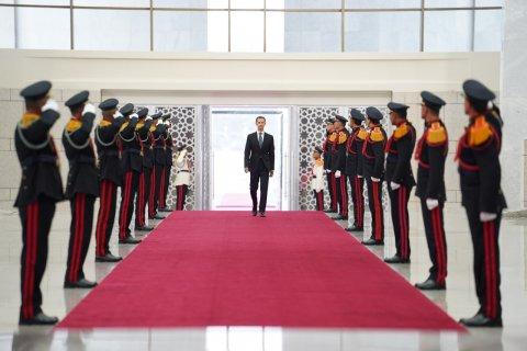 Syria, Bashar, Assad, swearing, in, ceremony