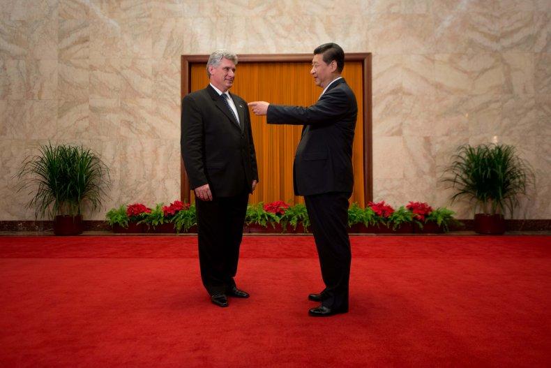 Cuba, Diaz, Canel, China, Xi, meet, 2013
