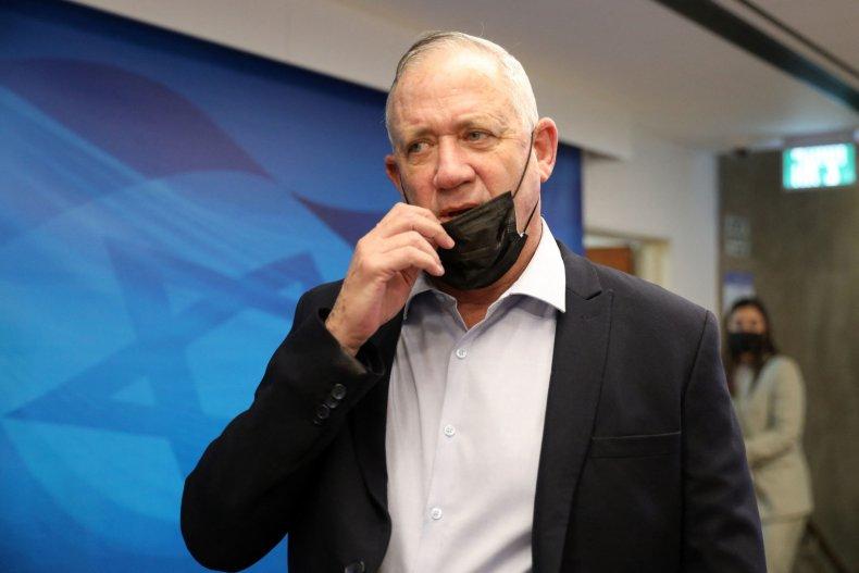 Israel's Defence Minister Benny Gantz