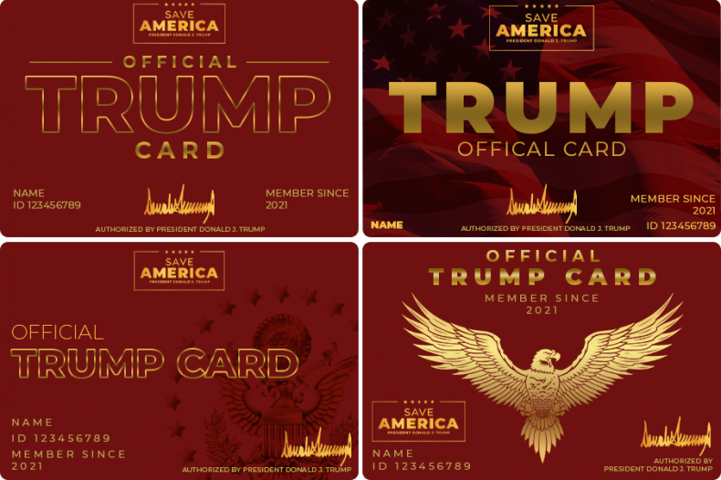 Donald Trump Official Supporter Cards