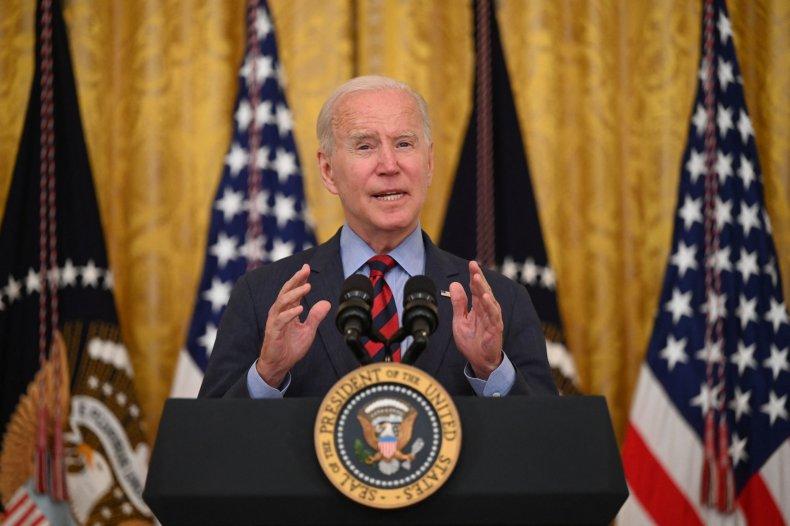 U.S. President Joe Biden speaks about Covid