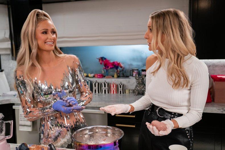 Paris Hilton and Nikki Glaser cook together