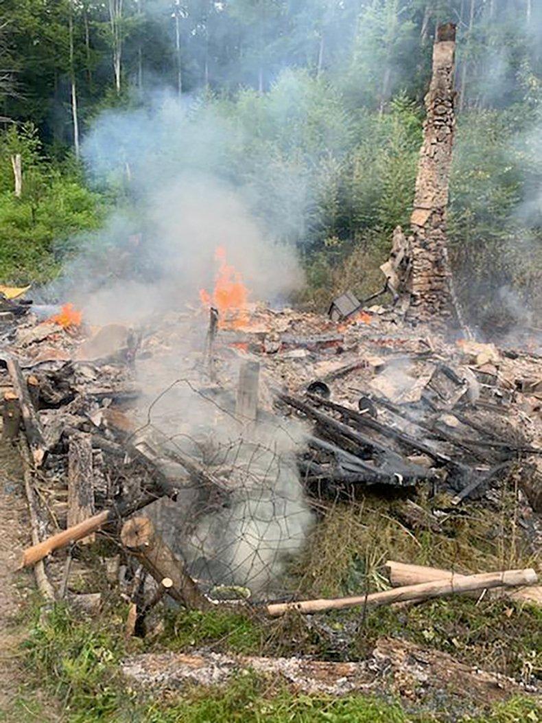 Remnants of David Lidstone's Cabin