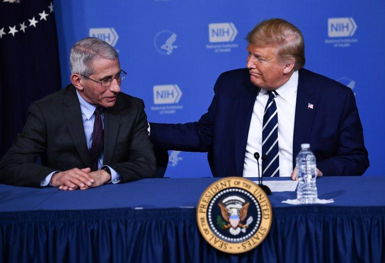Anthony Fauci Donald Trump COVID-19 Vaccines Vaccine