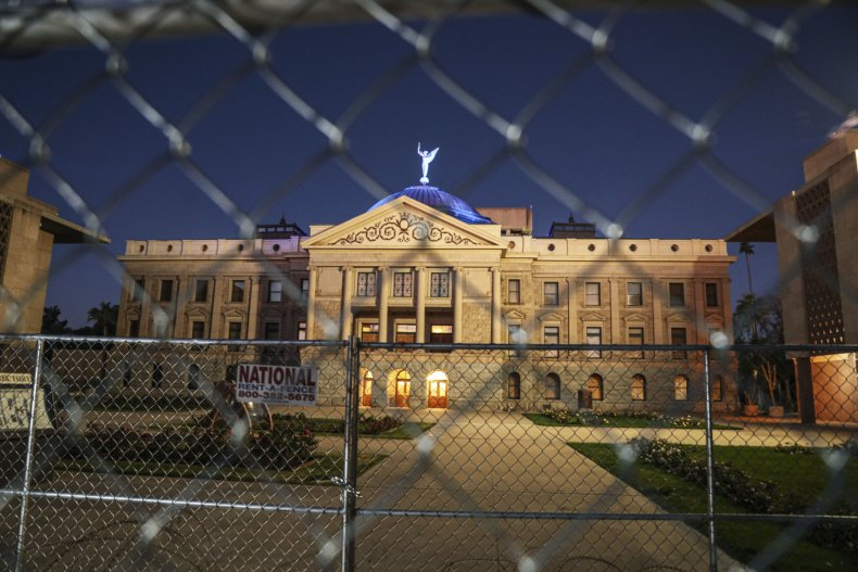 Arizona State Capitol Pictured in Phoenix