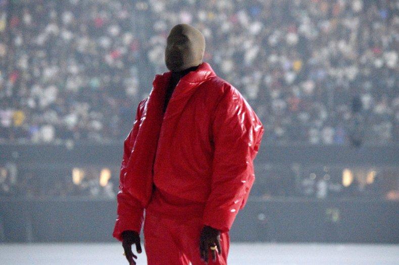 Kanye West at Donda album listening party