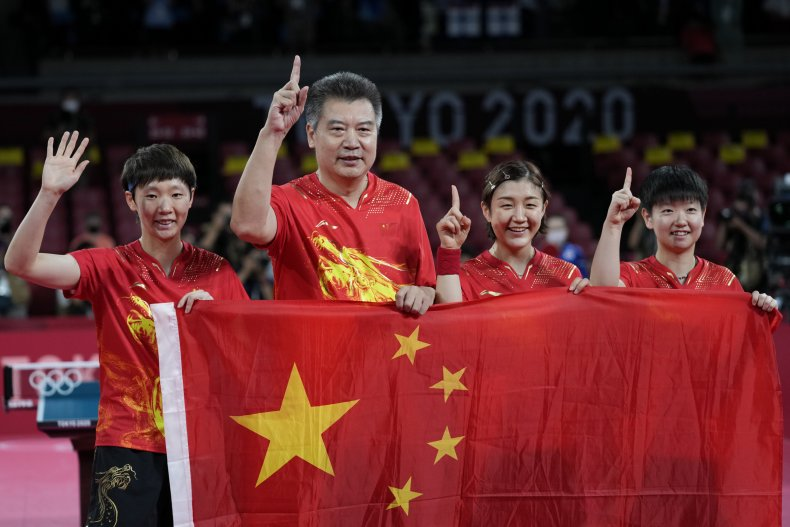 China to beat U.S. in Olympics table