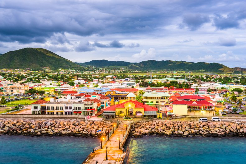 Basseterre in St Kitts and Nevis