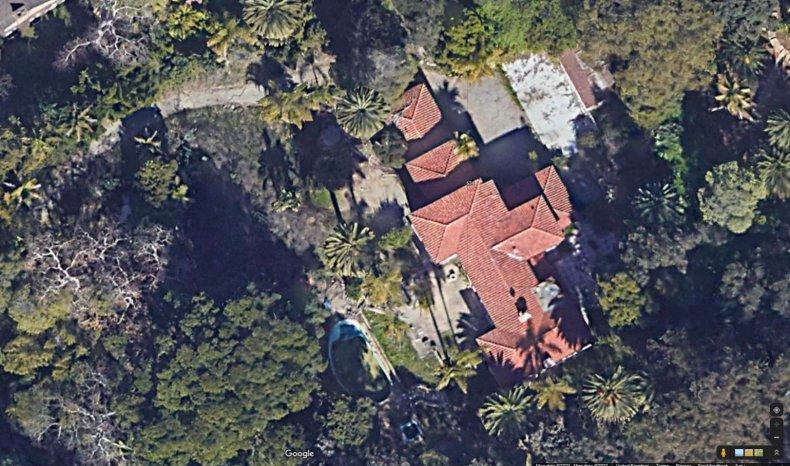 Aerial view of Bin Laden mansion.