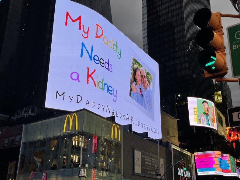 My Daddy Need a Kidney Billboard