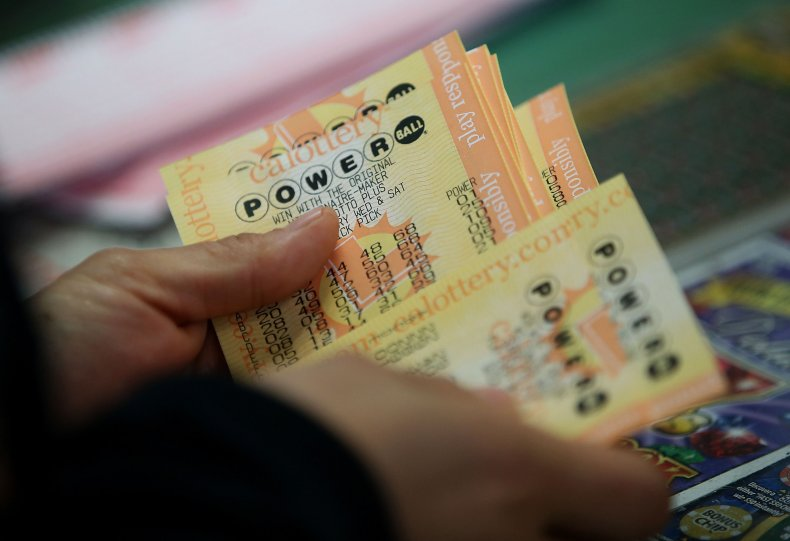A customer buys Powerball tickets.