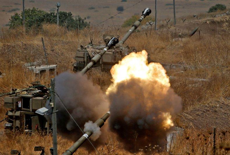 Israeli guns fire towards Lebanon and Hezbollah