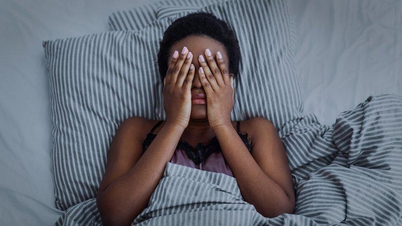 Woman struggles to sleep