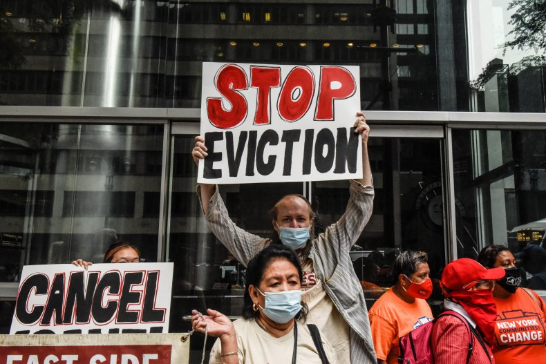 Evictions protest NYC