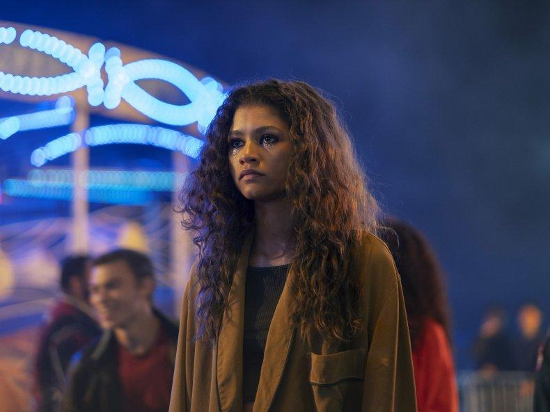 Zendaya as Rue in Euphoria