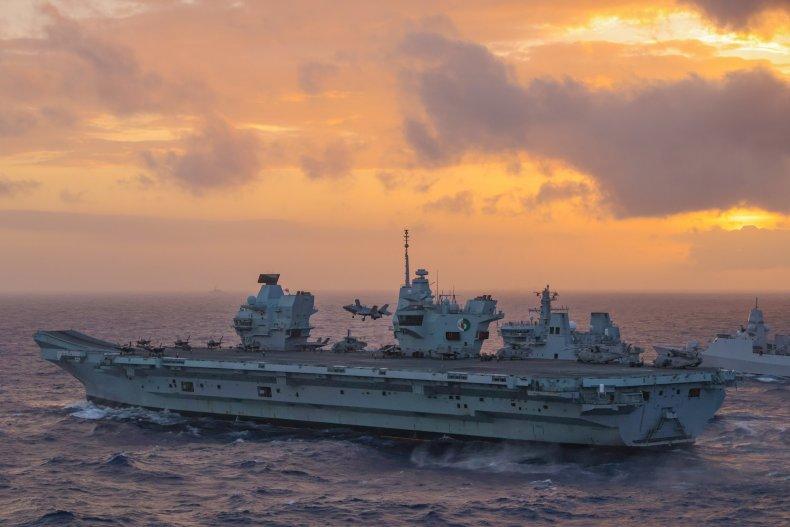 Queen Elizabeth CSG In South China Sea