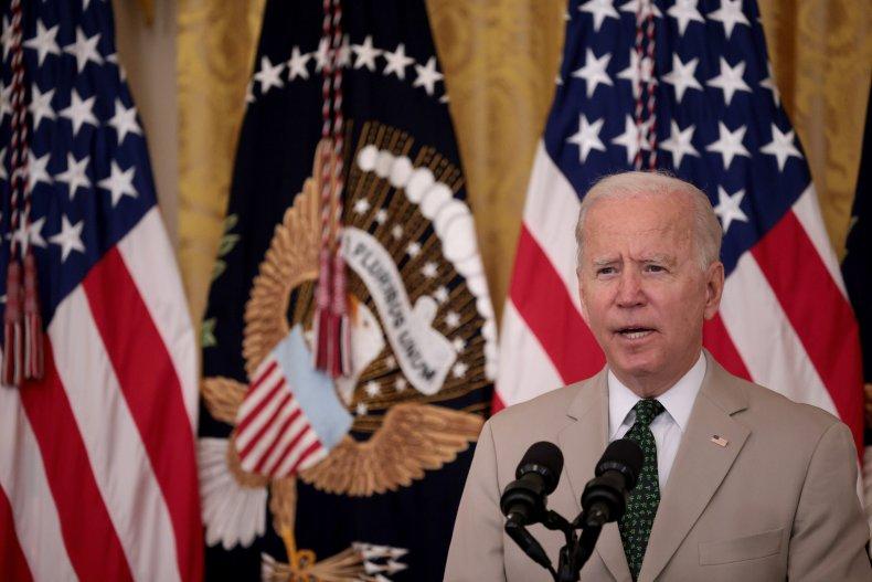 U.S. President Joe Biden speaks during an