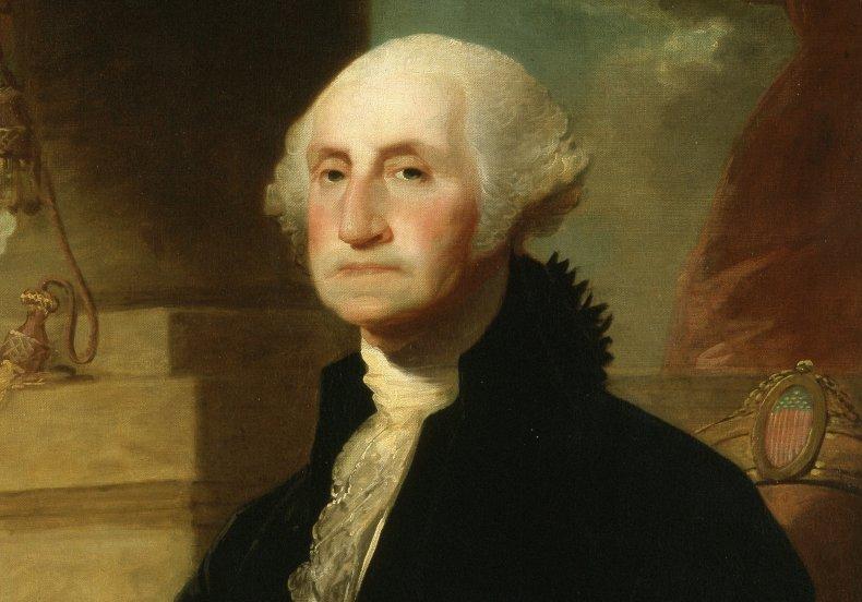 Painting of George Washington.