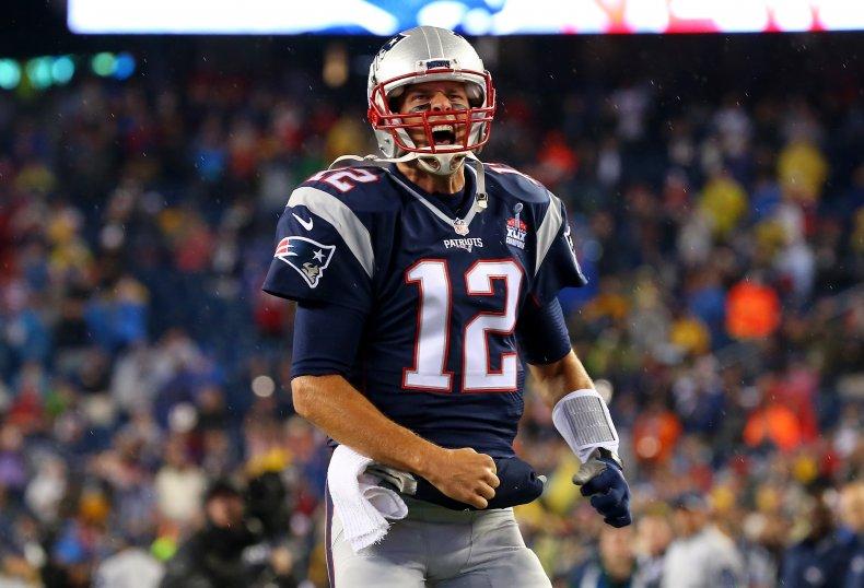 Tom Brady playing for New England Patriots