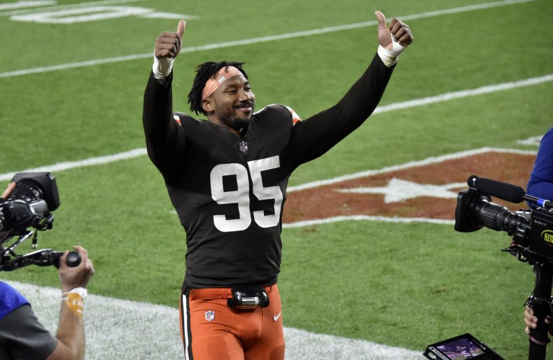 Myles Garrett of the Cleveland Browns