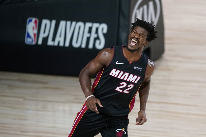 Jimmy Butler playing for the Miami Heat