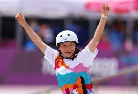 momiji Nishiya olympics skateboard gold tokyo