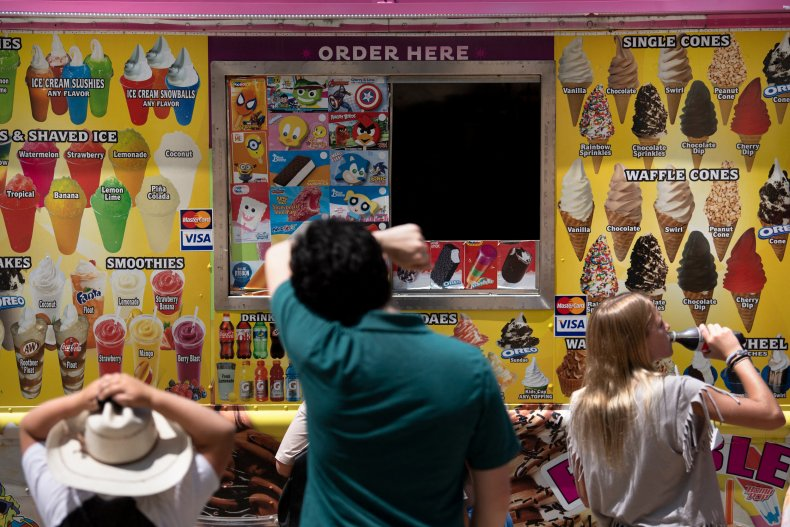 An ice cream truck in Washington, D.C.