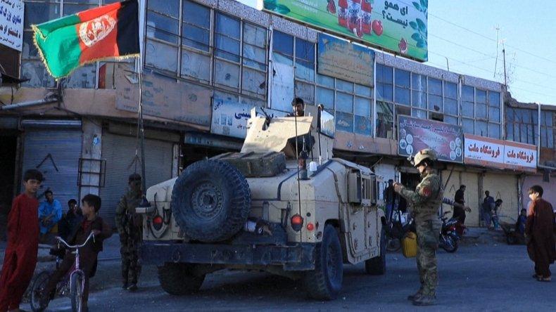 Afghanistan army vehicle patrols Herat