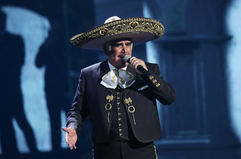 Vicente Fernández performing at Latin Grammy Awards.