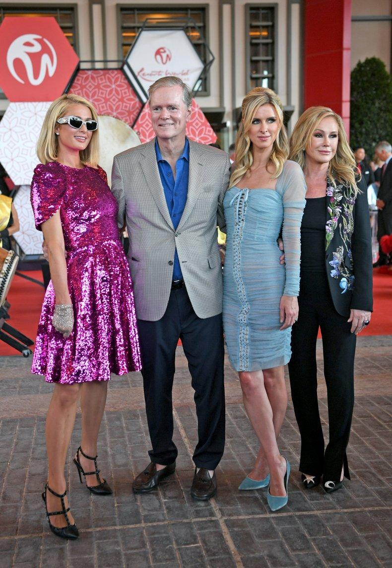 Paris, Richard, Nicky and Kathy Hilton