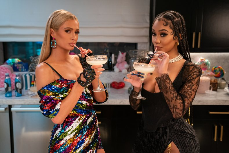 Paris Hilton and Saweetie drink margaritas