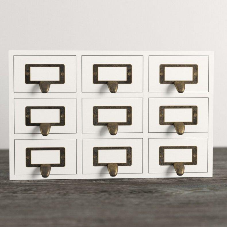 Desktop Solid Wood Apothecary Supplies Organizer