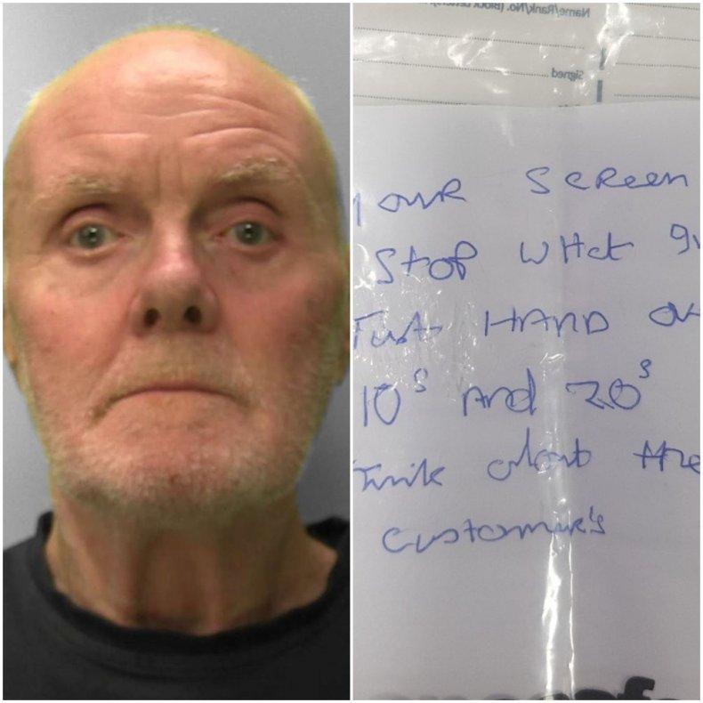 bank robbery handwriting