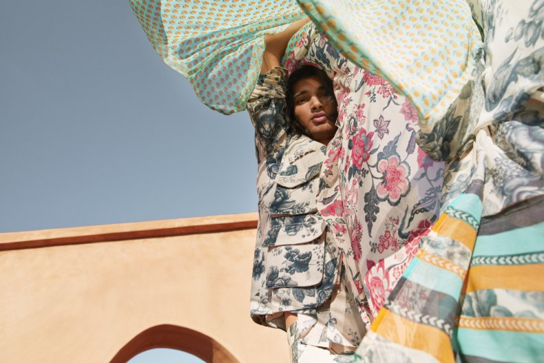 Model wears H&M x Sabyasachi collection