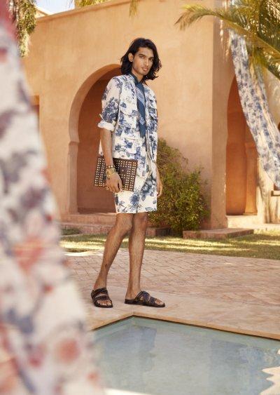 Model wears HM x Sabyasachi collection