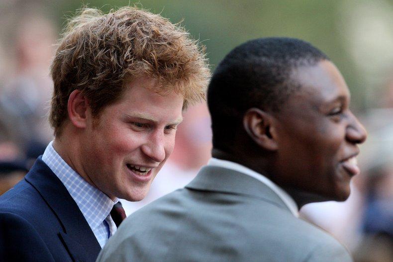 Prince Harry and Veteran Ben McBean