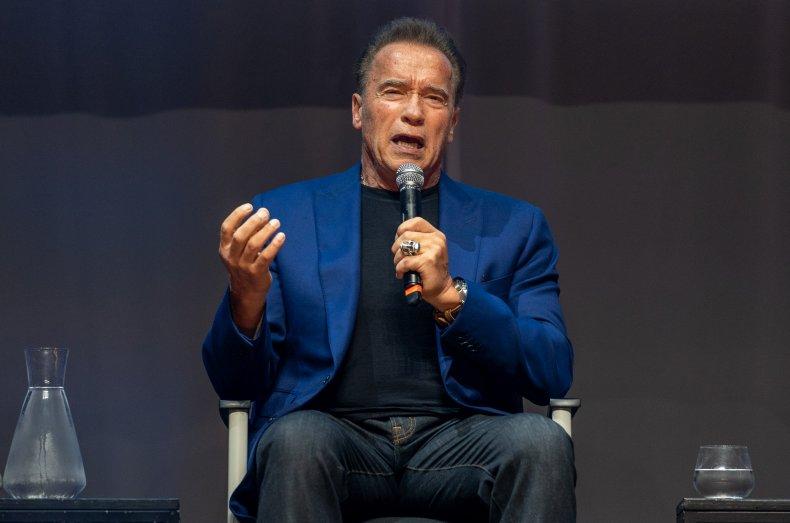 The Terminator actor Arnold Schwarzenegger.