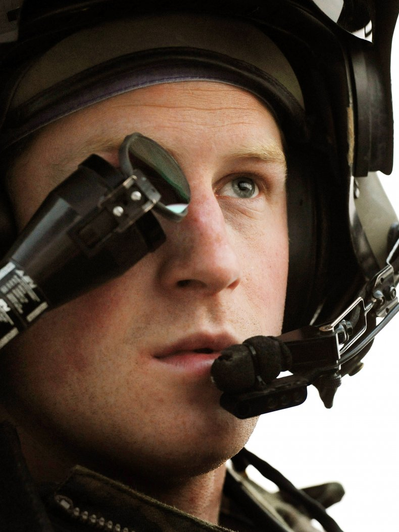 Prince Harry in Apache Helicopter