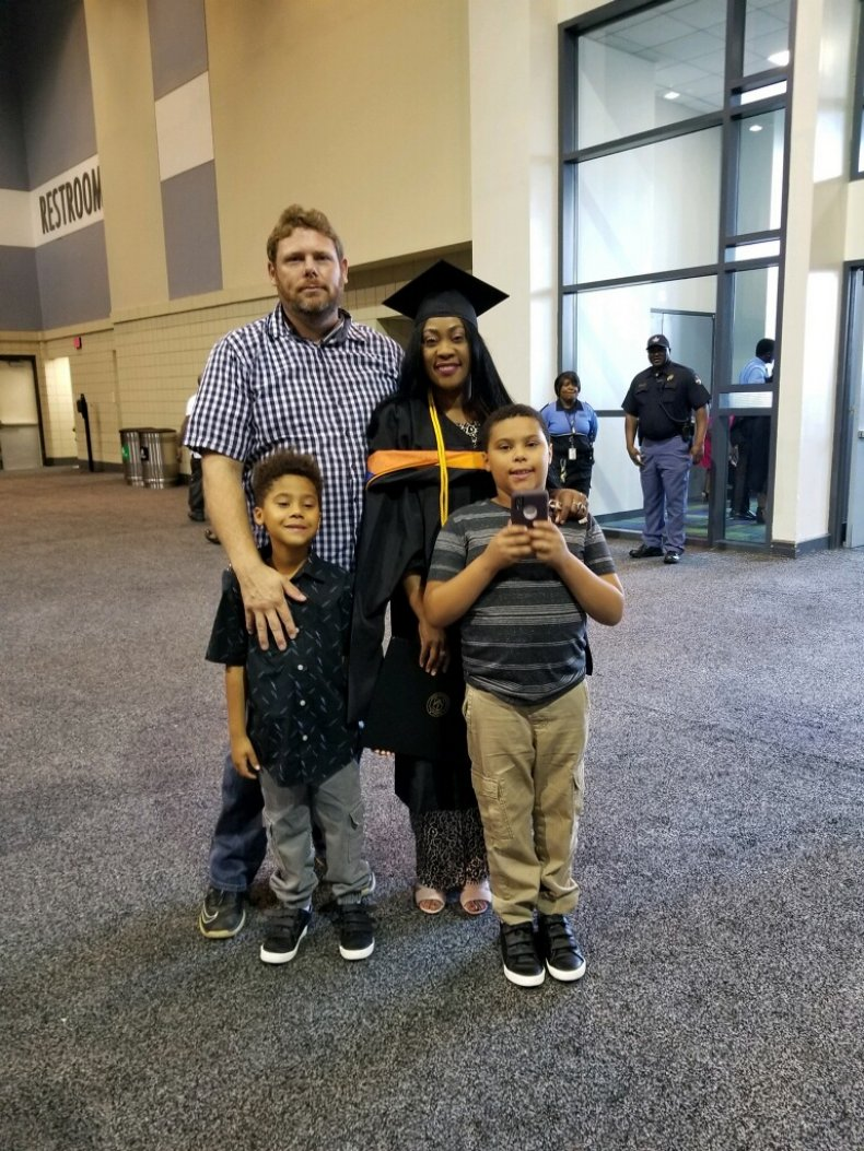 Doreen and Tony Plunkett with children