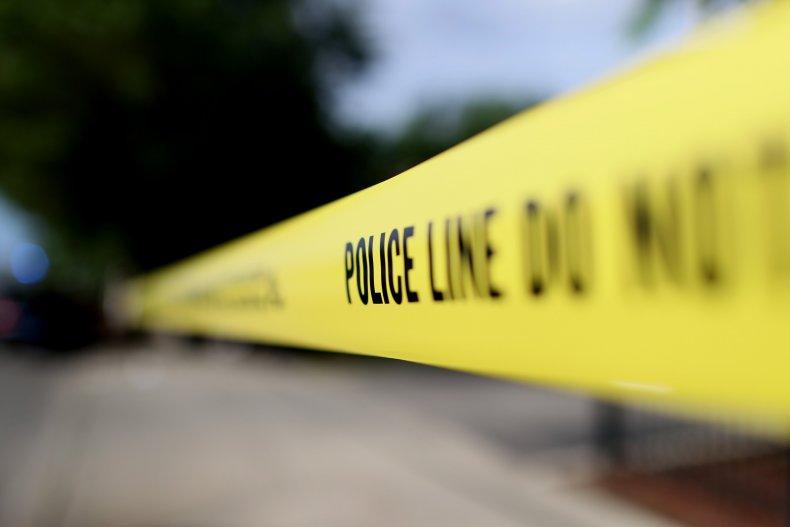 Police tape gender reveal explosion