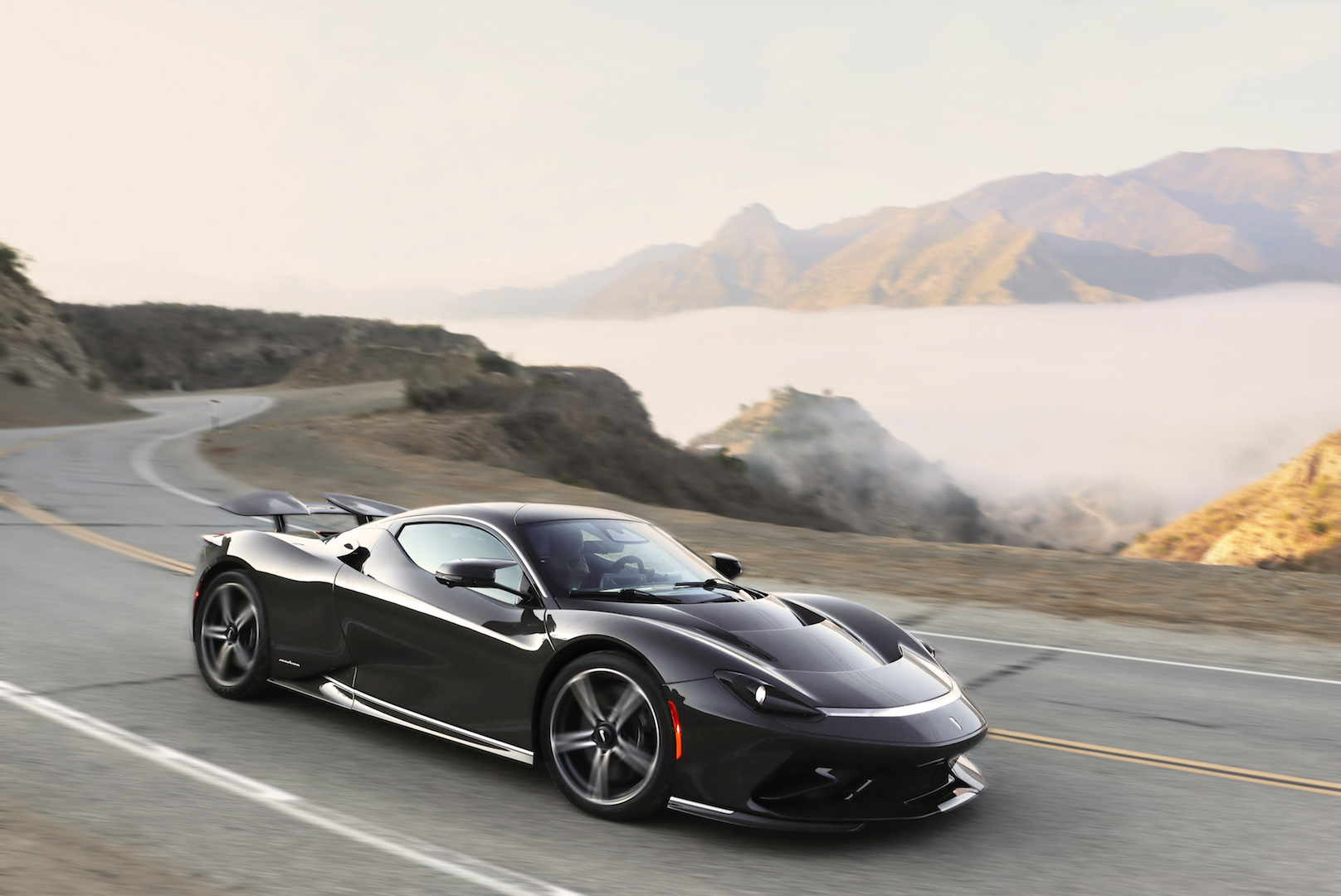 Italian carmaker Automobili Pininfarina has debuted the Battista, the first pure-electric hyper GT, on the streets of California as part of Monterey C