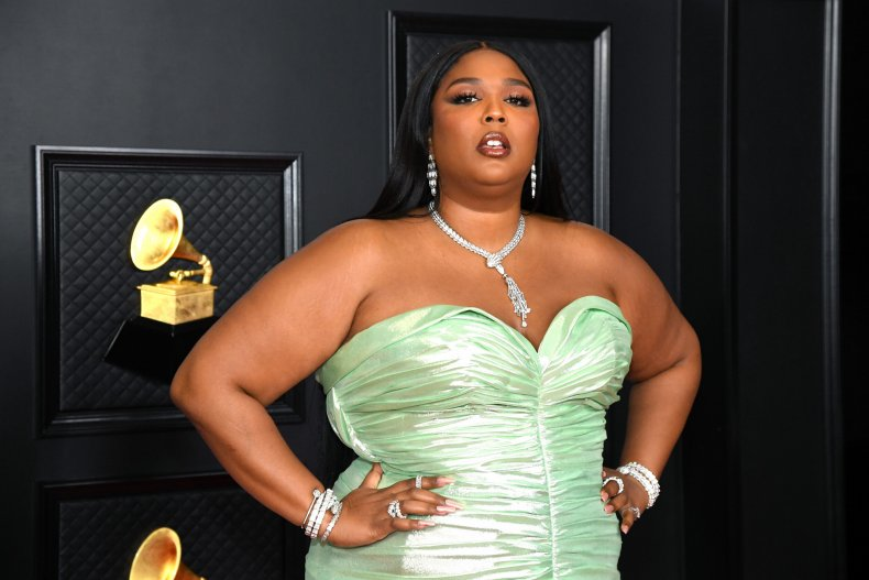 Lizzo attends the 2021 Grammy Awards