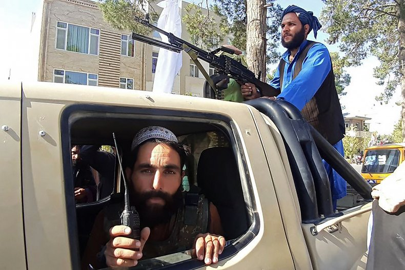 Taliban fighters in Herat amid Afghanistan advance