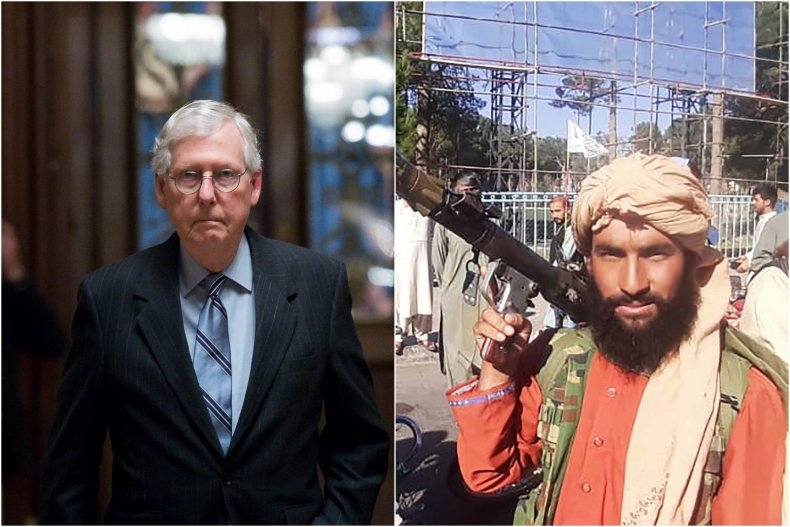 Composite Image Shows McConnell and Taliban Fighter