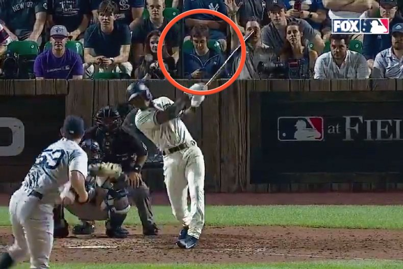 Tim Anderson home run and distracted fan